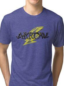 Tv Series Arrow and Flash cross-over Tri-blend T-Shirt