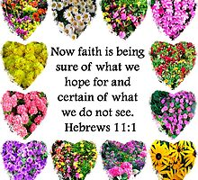 BEAUTIFUL HEBREWS 11:1 FLORAL DESIGN by JLPOriginals