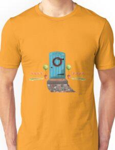 Welcome Blue Door and Stone Pathway Unisex T-Shirt