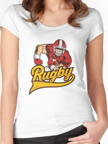 RUGBY. I love rugby. Women's Fitted Scoop T-Shirt