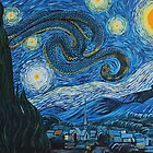 Sea Snakey Night, after Van Gogh by SnakeArtist