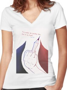Charlie Hebdo Women's Fitted V-Neck T-Shirt