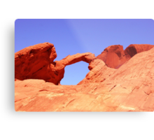 Fire Valley Arch Metal Print