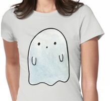 Little Blue Ghostly Ghost Womens Fitted T-Shirt