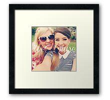 Zoe Sugg and Louise Pentland (Zoella & SprinkleOfGlitter) Framed Print