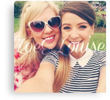 Zoe Sugg and Louise Pentland (Zoella & SprinkleOfGlitter) Canvas Print