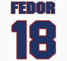 National Hockey player Fedor Fedorov jersey 18 by imsport