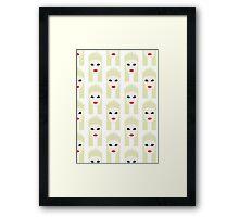 Minimalist Futuristic Yolandi Vi$$er Pattern Framed Print