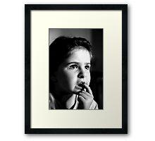 SPONGE BOB IN DANGER Framed Print