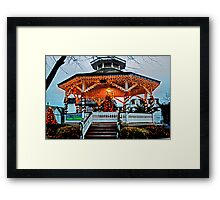 CapeMay Holiday Gazebo Framed Print