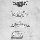 Classic Porsche Sports Car Original Patent by Edward Fielding