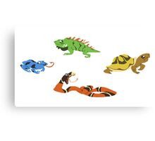 Reptile party!  Canvas Print