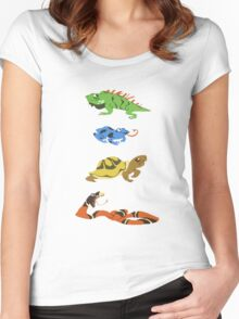 Reptile party!  Women's Fitted Scoop T-Shirt