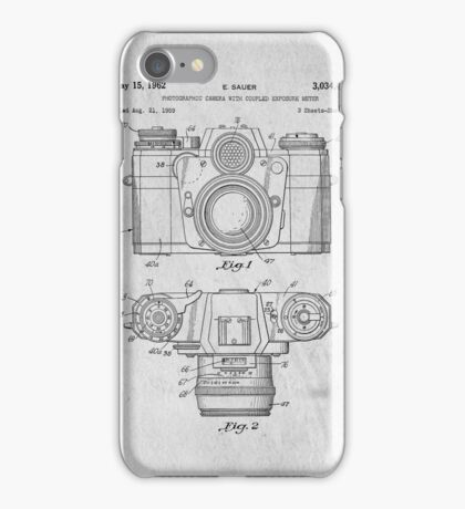 35mm Camera Original Patent Art iPhone Case/Skin