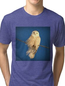 Guardian Angel (snowing) Tri-blend T-Shirt