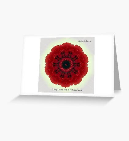 O my Luve's like a red, red rose Greeting Card
