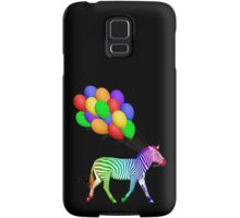 Rainbow Party Zebra - Now with Balloons! Samsung Galaxy Case/Skin