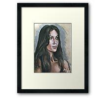Oil portrait study Framed Print