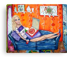 """Couch Potato Doll"" Canvas Print"