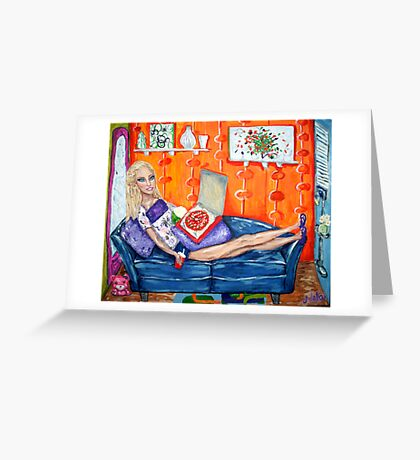 """""""Couch Potato Doll"""" Greeting Card"""