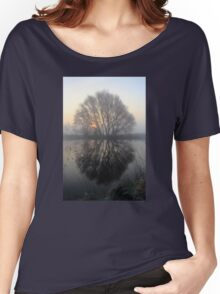 A Pond Reflection Women's Relaxed Fit T-Shirt