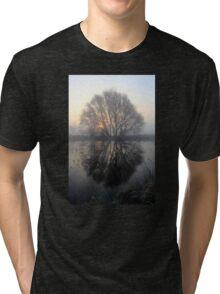 A Pond Reflection Tri-blend T-Shirt