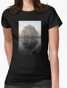 A Pond Reflection Womens Fitted T-Shirt