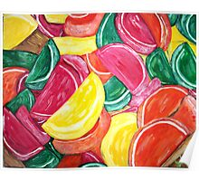 """Fruit Slices"" Poster"
