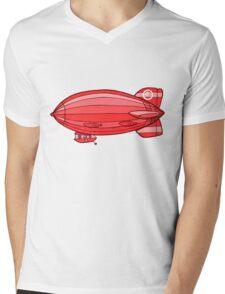 Little Red Zeppelin Mens V-Neck T-Shirt