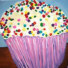 """Vanilla Cupcake With Sprinkles"" by Adela Camille Sutton"