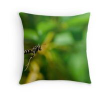 Wasp in the Garden Throw Pillow