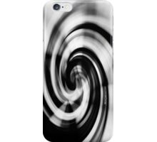 Psychmaster Whirlpool 101 BW iPhone Case/Skin