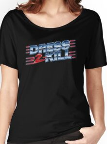 Dress-2-Kill Logo with Lazers  Women's Relaxed Fit T-Shirt