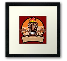 Tiki Vector Framed Print