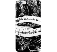 The ONE Ring, L'unico Anello Black ed. iPhone Case/Skin