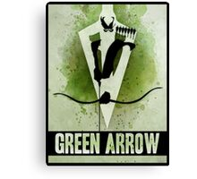 Green Arrow Splash Canvas Print