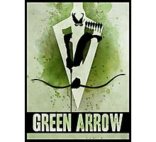 Green Arrow Splash Photographic Print