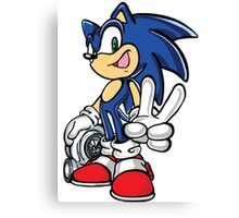 Sonic with turbo Canvas Print