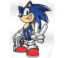 Sonic with turbo Poster