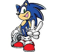 Sonic with turbo Photographic Print
