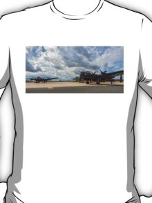 Two Lancasters and a Vulcan meet at RAF Waddington T-Shirt