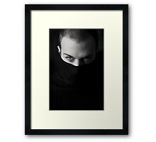 Black Sweater Framed Print