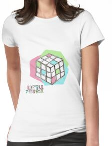 Little Cube Womens Fitted T-Shirt