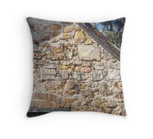 olden days stone and mortar Throw Pillow