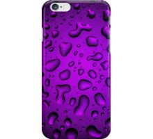Cool Grainy Purple water drops iPhone Case/Skin