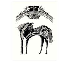 The dark horse Art Print