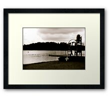 Empty Lifechair Framed Print
