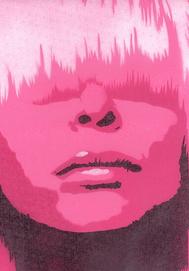 Face & Fringe Pink by Nicole Tattersall