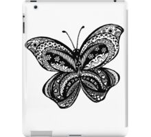 Butterfly Aussie Tangle Black & White  iPad Case/Skin