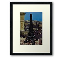 Soxy hired a helicopter in Paris, France Framed Print